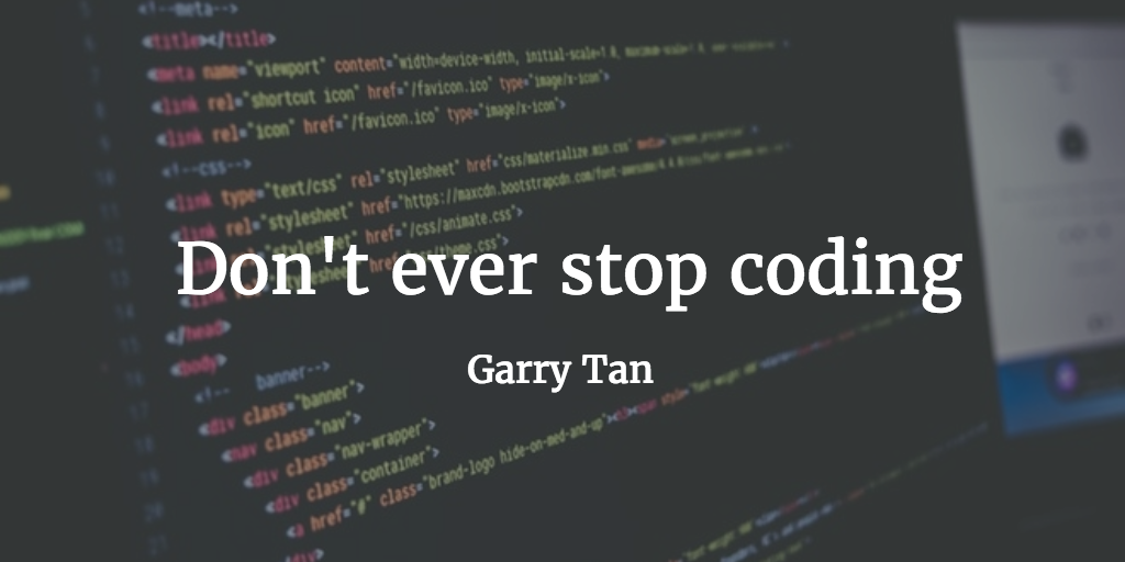 dont even stop coding