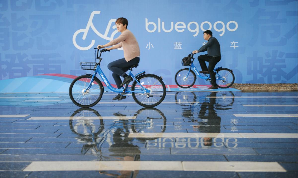 共享單車領域新出「小藍單車」,深圳首發預計投入 15000 輛